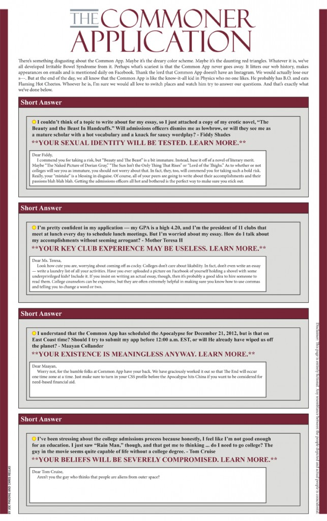 common app 2012 essay questions